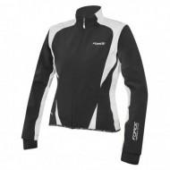 Jachetă ciclism FORCE X71 Lady Softshell - negru/alb