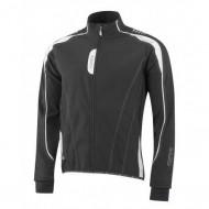 Jachetă ciclism FORCE X72 Man Softshell - negru/alb