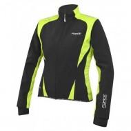 Jachetă ciclism FORCE X71 Lady Softshell - negru/fluo