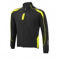 Jachetă ciclism FORCE X72 Softshell - negru/fluo