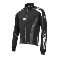 Jachetă ciclism FORCE X72 Pro Men Softshell - negru/alb