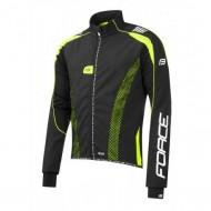 Jachetă ciclism FORCE X72 Pro Men Softshell - negru/fluo
