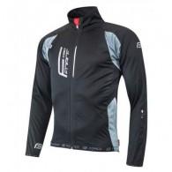 Jachetă ciclism FORCE F X80 - negru/gri mărime S