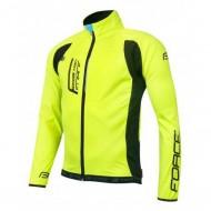 Jachetă ciclism FORCE F X80 - fluo/negru