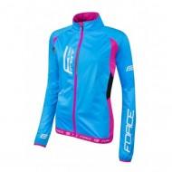 Jachetă ciclism FORCE F X80 - albastru/roz mărime L