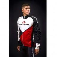 Jachetă ciclism MERIDA 41 Antiwind roșu/alb/negru
