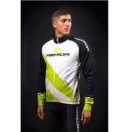 Jachetă ciclism MERIDA 44 Antiwind alb/verde