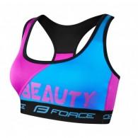 Lenjerie de corp fără mâneci / Bustieră FORCE Beauty albastru/roz mărime L