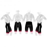 Pantaloni scurți cu bretele MERIDA 376 roșu/negru