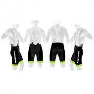 Pantaloni scurți cu bretele MERIDA 376 verde/negru
