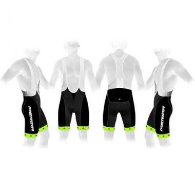 Pantaloni scurți cu bretele MERIDA 376 verde/negru mărime XL