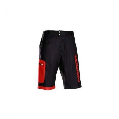 Pantaloni scurți MERIDA Baggy Enduro F196 roşu/negru mărime S
