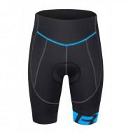 Pantaloni ciclism scurți FORCE B30 cu bazon din Gel negru/albastru XXL