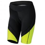 Pantaloni ciclism, scurți, de damă KROSS Depart negru/galben