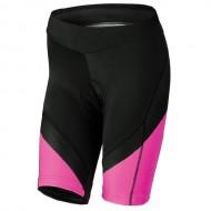 Pantaloni ciclism, scurți, de damă KROSS Depart negru/roz