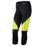 Pantaloni ciclism, trei sferturi, de damă KROSS Depart nergu/galben