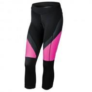Pantaloni ciclism, trei sferturi, de damă KROSS Depart nergu/roz