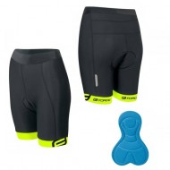 Pantaloni scurți cu bazon Force Kid 128-140 cm negru/galben