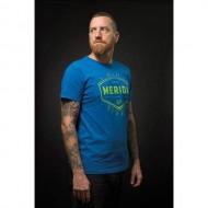 Tricou polo MERIDA EST.1972 albastru/verde mărime S