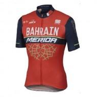 Tricou ciclism MERIDA Bahrain portocaliu/negru