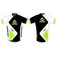 Tricou ciclism MERIDA 376 verde/ alb/negru