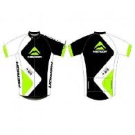 Tricou ciclism MERIDA 376 verde/ alb/negru mărime S