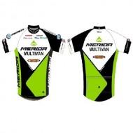 Tricou ciclism MERIDA Team negru/verde/alb