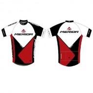Tricou ciclism MERIDA Team Replica roșu/alb/negru