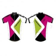 Tricou ciclism MERIDA 373 roz/verde mărime XS