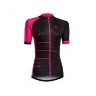 Tricou ciclism damă MERIDA 190 roz/negru