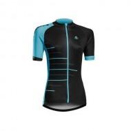Tricou ciclism damă MERIDA 190 turcoaz/negru mărime M