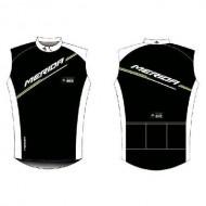 Tricou ciclism damă fără mâneci MERIDA 64 alb/negru mărime L