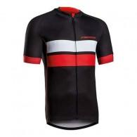 Tricou ciclism MERIDA 278 Gravel negru/roşu/alb mărime L