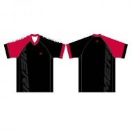 Tricou ciclism MERIDA Freeride Enduro roșu/alb/negru