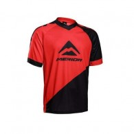 Tricou ciclism MERIDA Freeride Enduro roșu/negru mărime M
