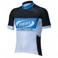 Tricou ciclism BBB Team Jersey negru/alb/albastru mărimea L