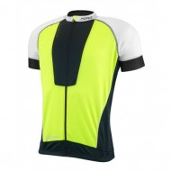 Tricou ciclism Force Air fluorescent/alb/negru L