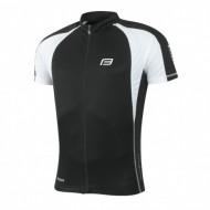 Tricou ciclism Force T10 negru/alb L