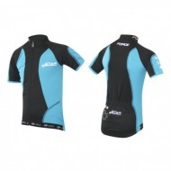 Tricou ciclism Force Kid Star negru/albastru 128-140 cm