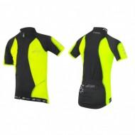 Tricou ciclism Force Kid Star negru/fluorescent 128-140 cm