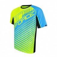 Tricou ciclism Force MTB Attack fluorescent/albastru M