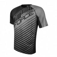 Tricou ciclism Force MTB Attack negru/gri XL