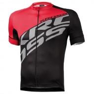 Tricou ciclism KROSS Rubble negru/roșu