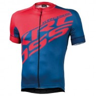 Tricou ciclism KROSS Rubble roșu/albastru