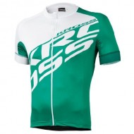 Tricou ciclism KROSS Rubble verde/alb