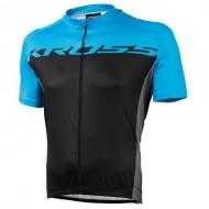 Tricou ciclism KROSS Flow albastru