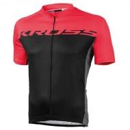 Tricou ciclism KROSS Flow roșu