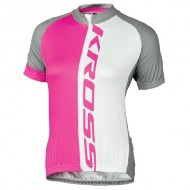 Tricou ciclism damă KROSS Flow Lady roz