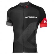 Tricou ciclism KROSS Race roșu