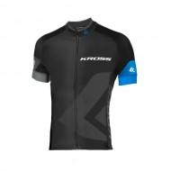 Tricou ciclism KROSS Race albastru